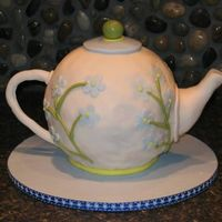 Teapot Cake This is a little teapot, short and stout, that was for a friend's tea party.