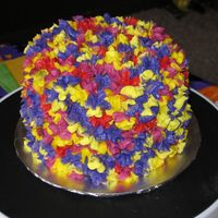 Colorful Flowers Just playing with left over frosting