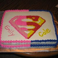 Supergirl/boy Birthday Cake