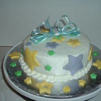 Stars this cake was a gift for my daugther english teacher, it was made with rolled fondant(almond flvored)and decorated with pastel colored...