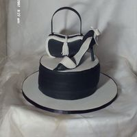 Shoe__Purse.jpg This is my very first high heel shoe and purse! The purse a bit of work, no mold just free hand but the bottom cake I made with layer of...