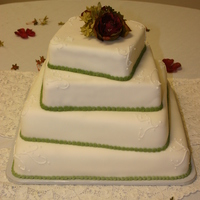 4 Teir Square Wedding Cake