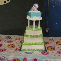 My Little Pony 1St Birthday I made this cake for my goddaughter's 1st birthday. It was my first big cake and my first cake with columns. I'm happy with the...