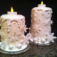 Snowflake Candle Cakes Copied from cakes posted on Cake Wrecks, Sunday Sweets. (I unfortunately can't remember the blog of the baker). Pumpkin cake roll...