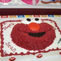 Elmo 2Nd Birthday Cake I did this one for my son's 2nd birthday. Elmo shifted a bit on the drive to the party (hence the red icing on the outer edges of elmo...