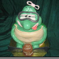 Scuba Turtle Birthday Cake   Custom Scuba Turtle Cake from Philadelphia Bakery