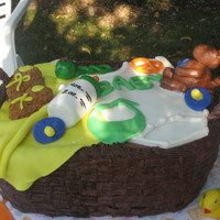 Basket Shower Cake Baby shower cake from Philadelphia Custom Cake bakery