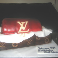 Louis Vuitton Clutch Bag In Box   Custom Luis Vuitton Sobe Clutch purse Cake from Philadelphia Bakery
