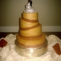 Fantasy Slanted Wedding Cake   Custom Slanted wedding cake from Philadelphia Bakery
