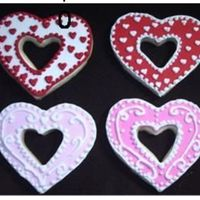 Cut Out Hearts Sugar cookies with royal icing