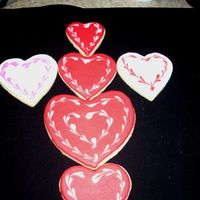 Simple Hearts Early Valentine cookies - sugar cookies with royal icing.