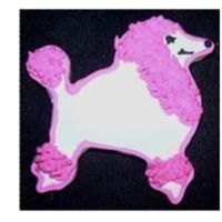 Pink Poodle Sugar Cookie with royal icing - thanks to inspiration from others on the site.