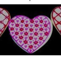 Valentine Hearts Sugar cookie with royal icing