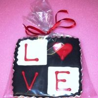 "Love Stamp Sugar cookie with royal icing. My take on the ""love"" stamp. Thanks for looking!"