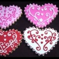 Frilly Hearts Sugar cookies with royal icing