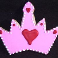 Queen Of Hearts Sugar cookie with royal icing