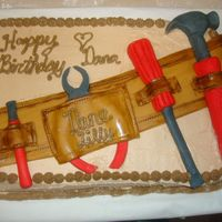 Tool Belt Cake  I did this cake for a lady that has a twin brother and she wanted this cake for their birthday party because her brother is a construction...