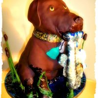Chocolate Lab Groom's Cake