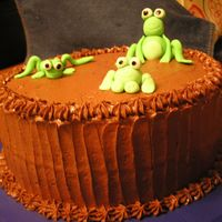 Frog Cake I made this cake for a friend of ours that moved out of state. She loves frogs and chocolate, so I thought it would be fun to combine her...