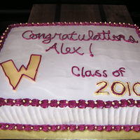 Alex's Graduation Cake I made this cake for a friend's son's high school graduation. I was initially going to make a wizard out of fondant (Wizard is...