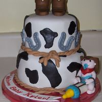 Western Baby Shower Made this for a cowboy themed baby shower, lots of inspriration from other CC cakes.
