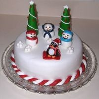 Snowman Fun All fondant , lots of fun!