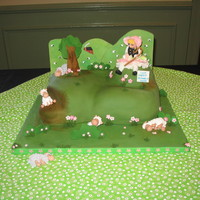 Nursery Rhyme Cake Contest I won second place for my Little Bo Peep cake. Everything is edible