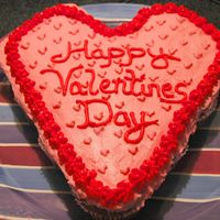 Valentine's Day Cupcake Cake A white cake with buttercream icing.