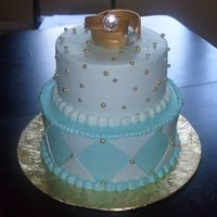 Goodall 50Th Anniversary all buttercream with fondant accents and gold dregrees