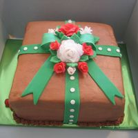 Anne's Christmas Cake  For a lady who said that the cake HAD to be chocolate everything..... including the icing. My first time to make chocolate buttercream. The...