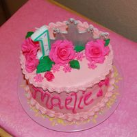 Maelie's Smash Cake   Smash cake to go with my neice's castle cake.