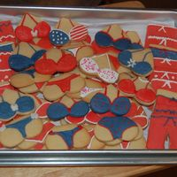 4Th Of July Pool Party Cookies   A little llate posting these....... cookies for a 4th of July pool party. Thanks for looking!