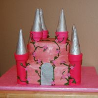 Maelie's Princess Castle Cake Castle cake for my neice's first birthday.... I had higher hopes for making this fancier, but I was 8 months pregnant, it was summer,...