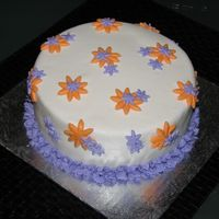 "Daisies This was actually a ""Thank You"" cake for my team at work. I left for maternity leave (baby should be arriving any day now)...and..."