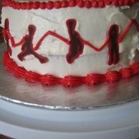 Player Silhouettes This is the side of my Raptor Cake with the chocolate transfer player silhouettes