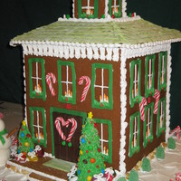 Gingerbread House 2009! Made for a local contest- design based on several Italianate houses. Everything is edible except for the base.