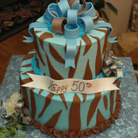 50Th Birthday Zebra Cake