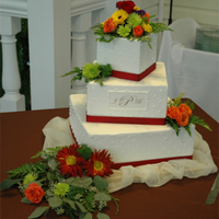 Fall Colors Wedding Cake