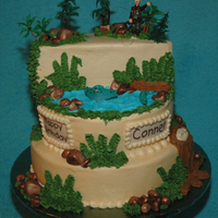 Conner's Fishing Birthday Cake