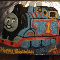 Thomas The Train My twin nephews LOVE Thomas the Train so it was only natural to make them a Thomas cake for their 3rd birthday. The cake was made in the...