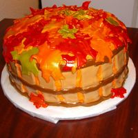 Basket Full Of Leaves Cake I made this cake for the first Thanksgiving I spent with my boyfriend's (now husband's) family. It was also my first go at using...