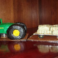 John Deere Tractor Cake I made this cake for my uncle's 80th birthday and modeled it after a John Deere model 80 tractor. The tractor is made of a cake I made...