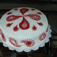 Paisley Cake This is a cake I actually made for my friend's bridal shower (her theme was red paisley) but I thought it probably looked more like a...