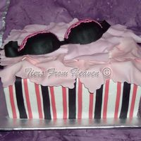 Pink And Black Support Cake Another Bra birthday cake. Someone just pointed out that it looks like Victoria's Secret box. Not intended , just happened to be the...