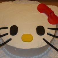 Hello Kitty Cake Chocolate cake with wipped cream frosting