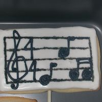 Sheet Music Cookie sugar cookie covered in RI