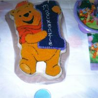 Pooh Bear   Pooh Bear Wilton Cake Pan for my niece done in all buttercream.