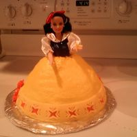 Snow White   Buttercream Icing with Fondant Accents.