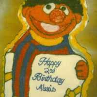 Ernie Cake   Ernie Wilton Pan iced all in buttercream