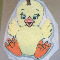 Baby Chick Chick Wilton Pan all in buttercream